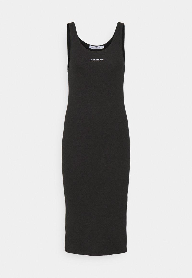 Calvin Klein Jeans - MICRO BRANDING STRAPPY - Vestido de tubo - black