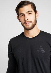 adidas Performance - TAN LOGO TEE - Langærmede T-shirts - black - 4