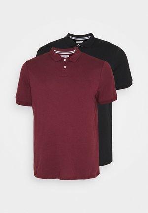 Polo shirt - black/bordeaux
