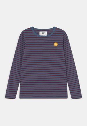 KIM LONG SLEEVE UNISEX - Long sleeved top - blue/dark red