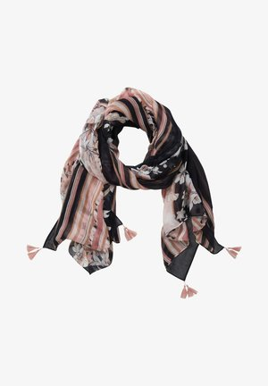 Scarf - dark blue-rosé