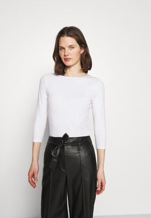 FITTED SLASH - Long sleeved top - white