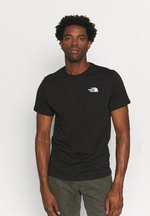 REDBOX TEE - T-shirt med print - black/peach pink/white