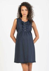 Attesa Maternity - GIULIETTA - Korte jurk - blue - 0