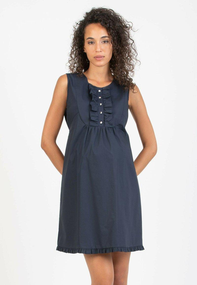 Attesa Maternity - GIULIETTA - Korte jurk - blue
