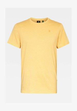 BASE-S ROUND SHORT SLEEVE - Basic T-shirt - dk gold htr