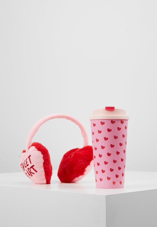 KEEP WARM MUG SET - Paraorecchie - pink