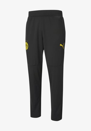 Tracksuit bottoms - puma black-cyber yellow