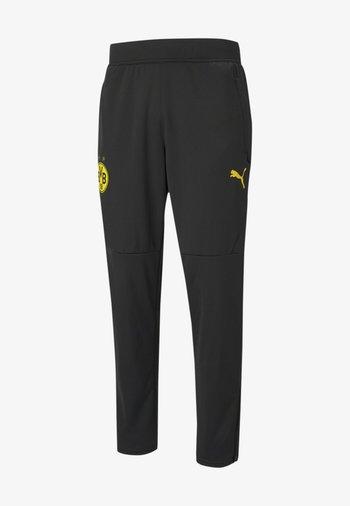 Træningsbukser - puma black-cyber yellow