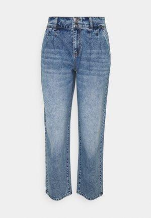 ONLDEBBIE WIDE - Straight leg jeans - medium blue denim
