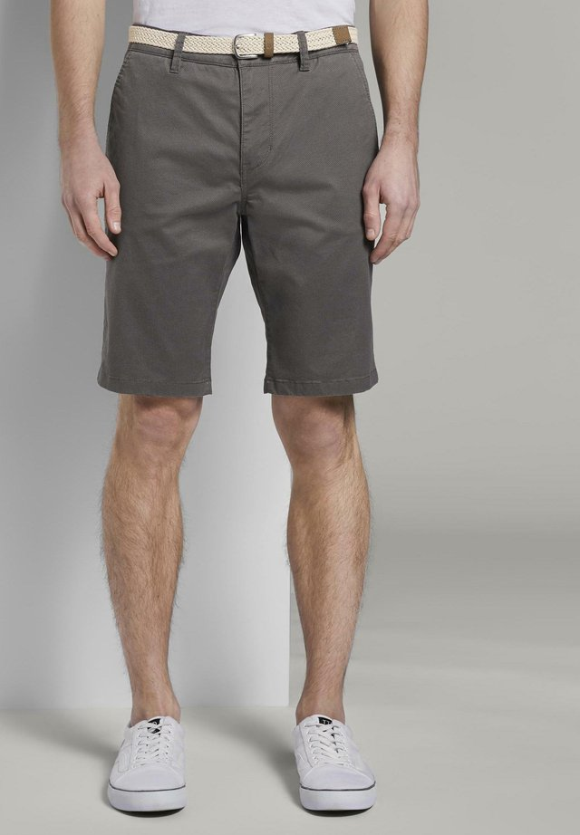 Shorts - grey mini zig zag design
