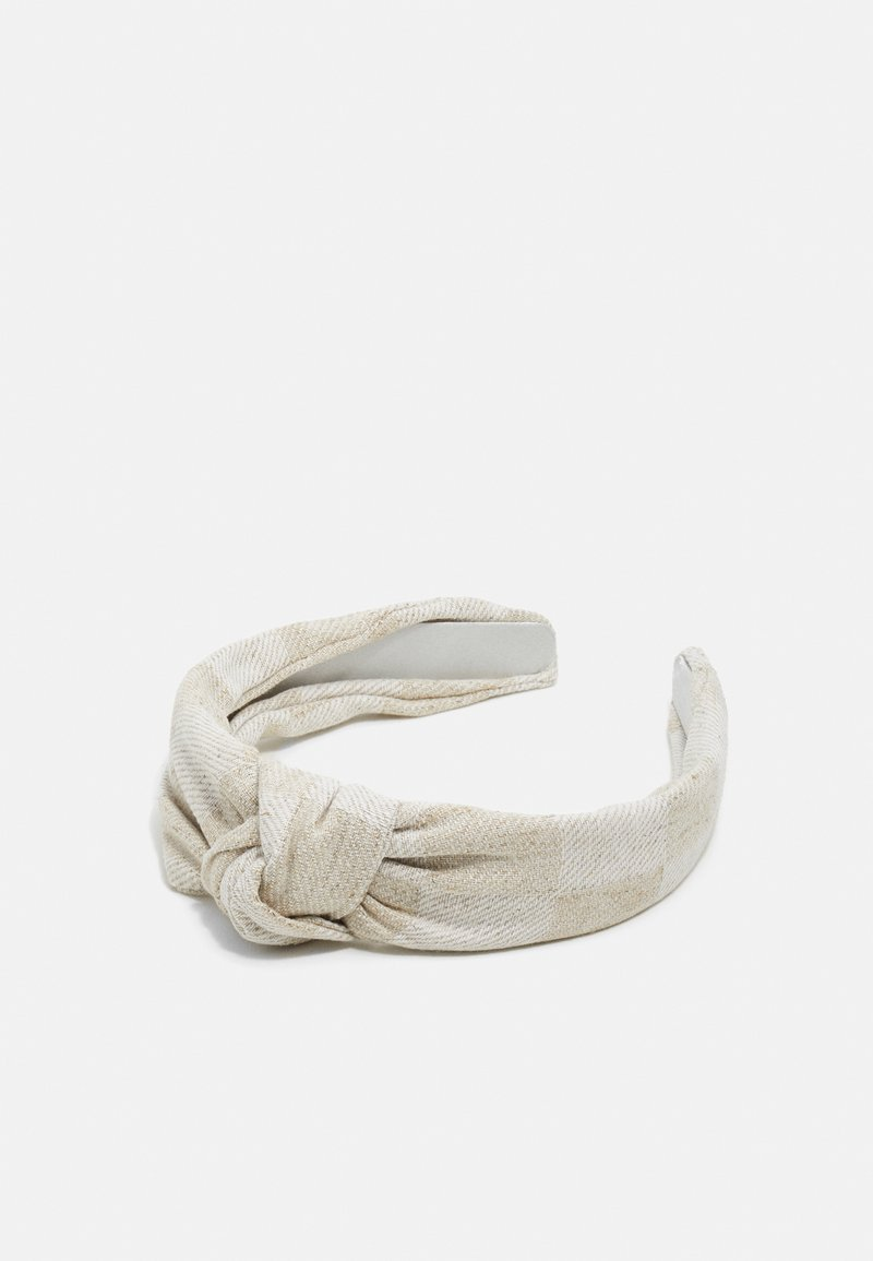 Topshop - CHECK HEADBAND - Hair styling accessory - beige