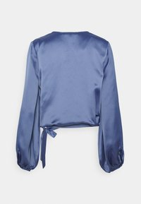 NU-IN - WRAP BALLOON SLEEVE - Blouse - blue - 1