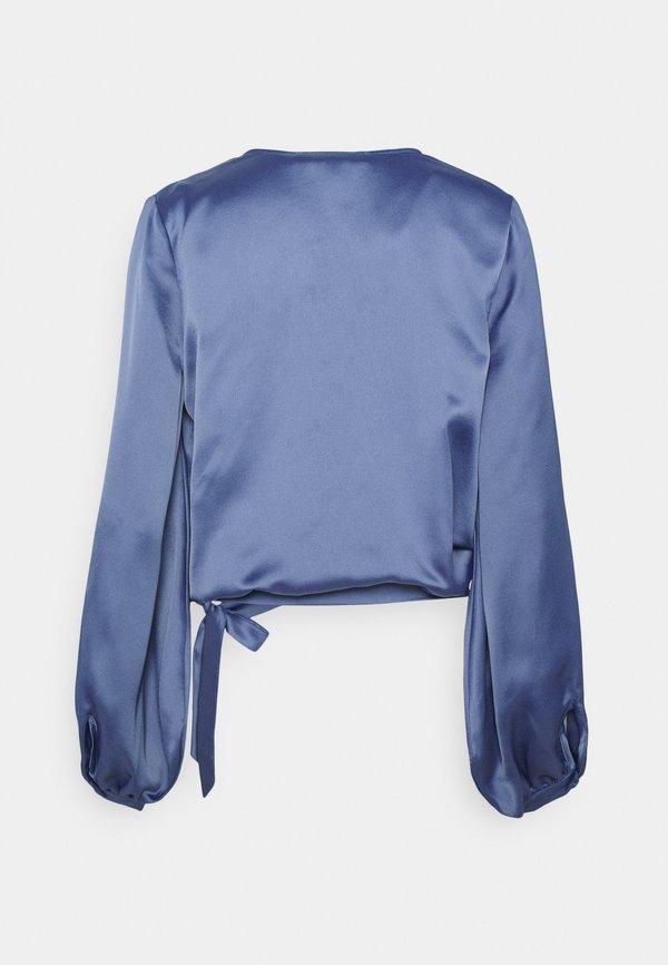 NU-IN WRAP BALLOON SLEEVE - Bluzka - blue/granatowy AUEU