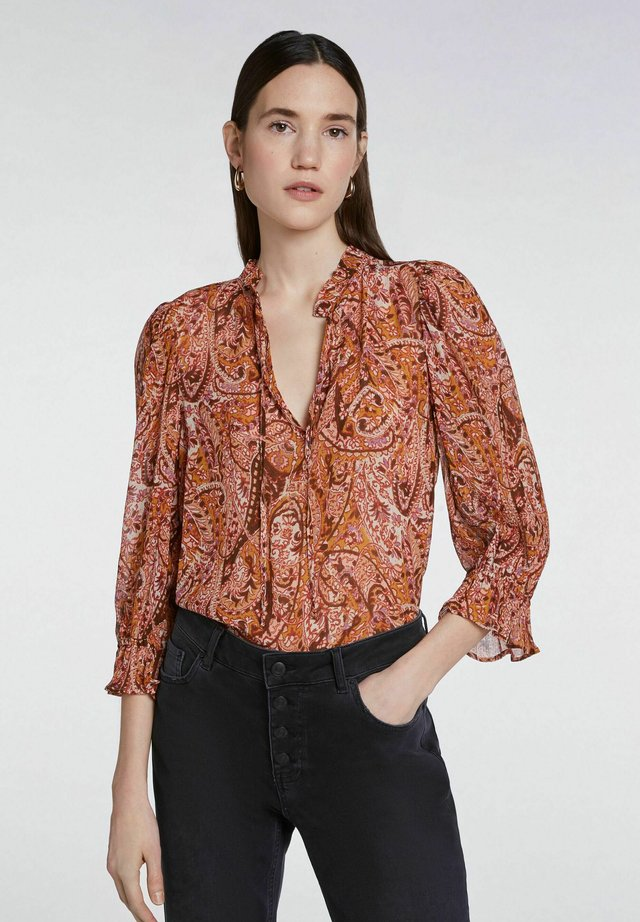 MIT PRINT - Blouse - red yellow