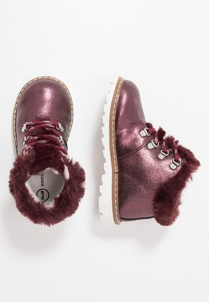 HOLLIEE - Šněrovací kotníkové boty - bordeaux
