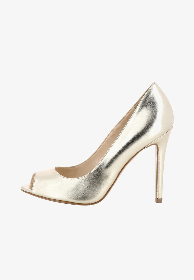 ALESSANDRA - Peeptoe heels - gold