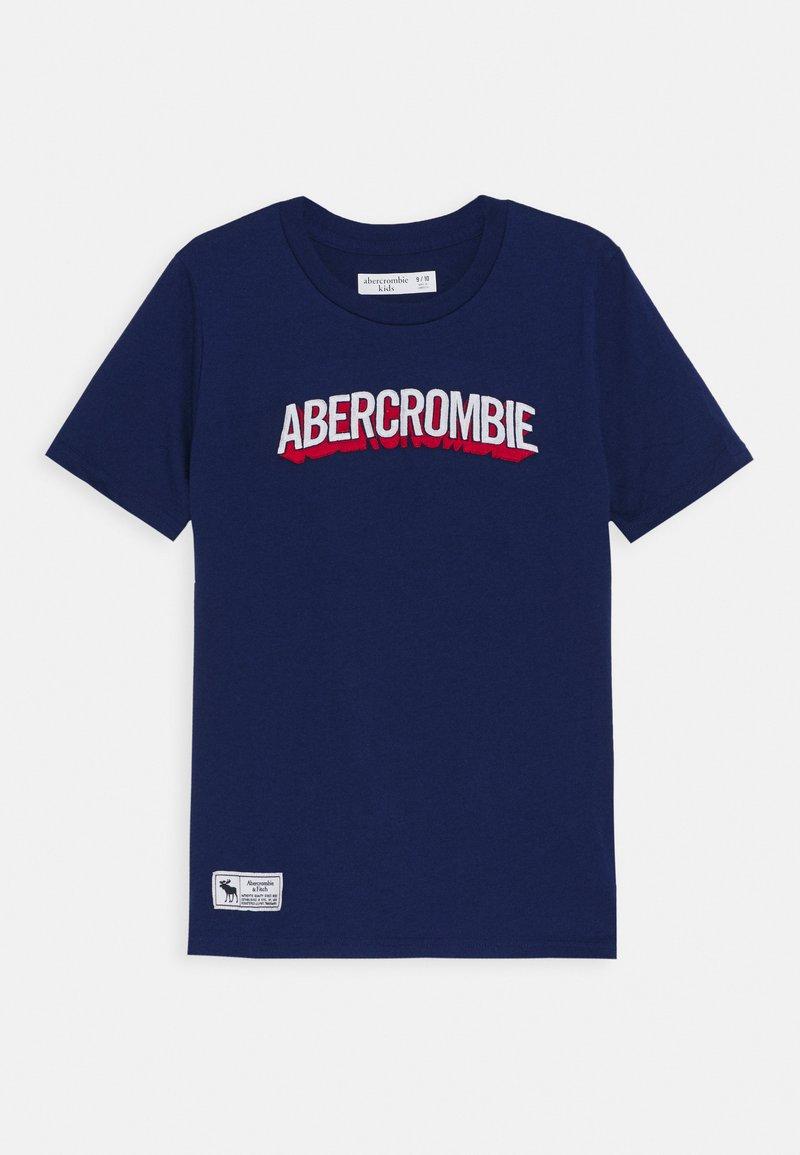 Abercrombie & Fitch - TECH LOGO - Print T-shirt - blue