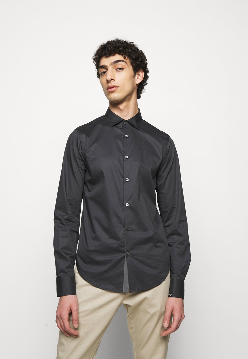 Emporio Armani - SHIRT - Formal shirt - anthracite