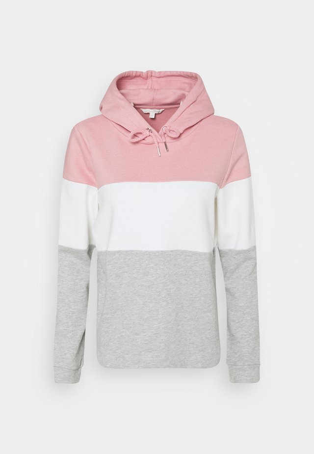 COLOR BLOCK HOODIE - Sweat à capuche - light pink