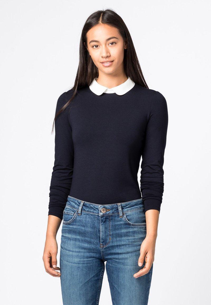 HALLHUBER - MIT BUBIKRAGEN AUS LENZING™-ECOVER - T-shirt à manches longues - dunkelblau