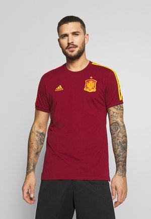 FEF SPANIEN 3S TEE - Voetbalshirt - Land - bordeaux
