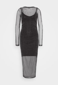 AllSaints - FRANCESCO METALLIC DRESS 2-IN-1 - Shift dress - black - 0