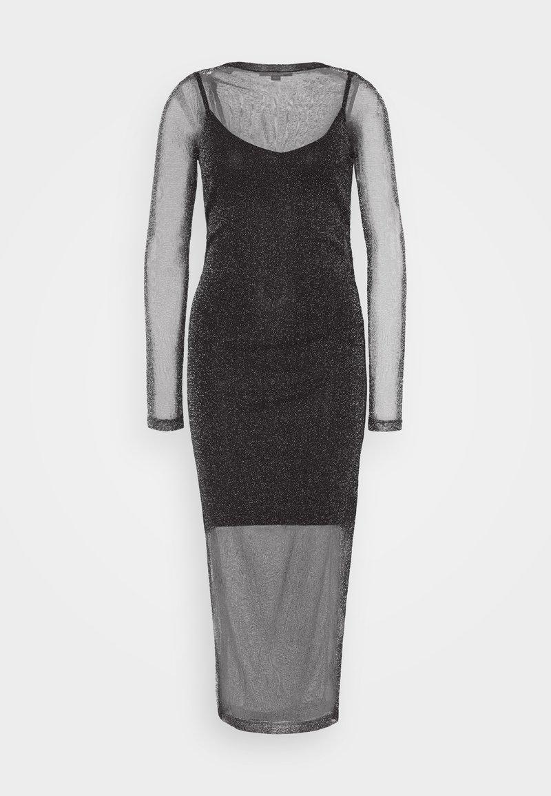 AllSaints - FRANCESCO METALLIC DRESS 2-IN-1 - Shift dress - black