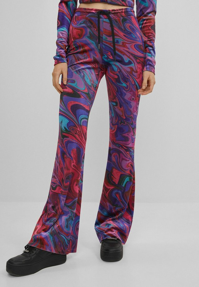 BEDRUCKTE - Pantalon de survêtement - neon pink