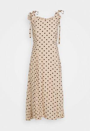 OBJELLIE LONG STRAP DRESS - Day dress - sandshell