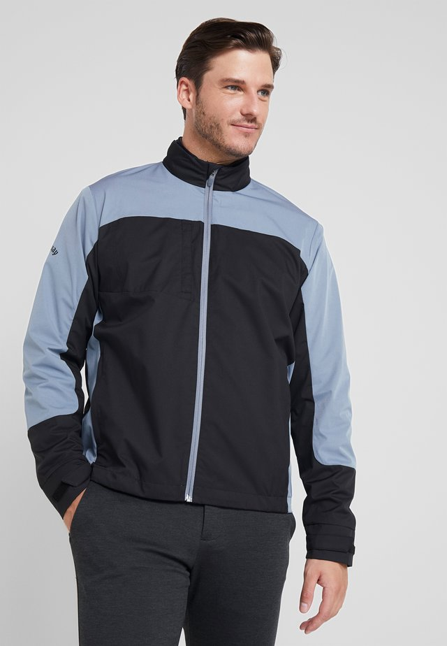 BLOCK FULL ZIP WINDJACKET - Training jacket - caviar
