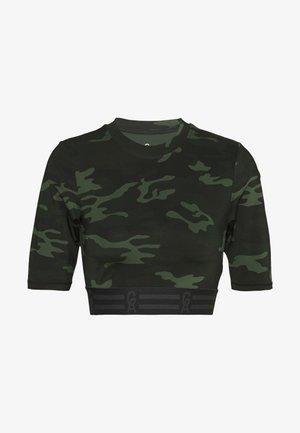 ICON CROP - T-shirt imprimé - khaki