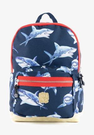 SHARK RUCKSACK M - KINDERRUCKSACK HAIE - Backpack - dunkelblau