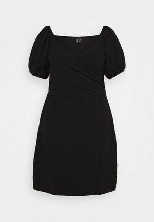 VMJASMINE WRAP SHORT DRESS - Sukienka letnia - black