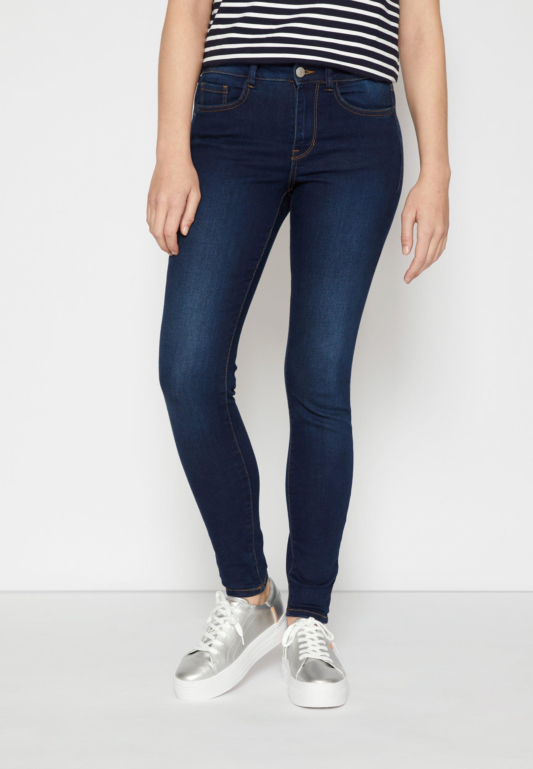 Damen NELA - Jeans Skinny Fit - used dark stone blue