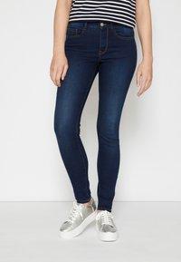 TOM TAILOR DENIM - NELA - Jeans Skinny Fit - used dark stone blue - 0