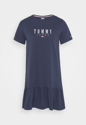 LOGO PEPLUM DRESS - Jersey dress - twilight navy