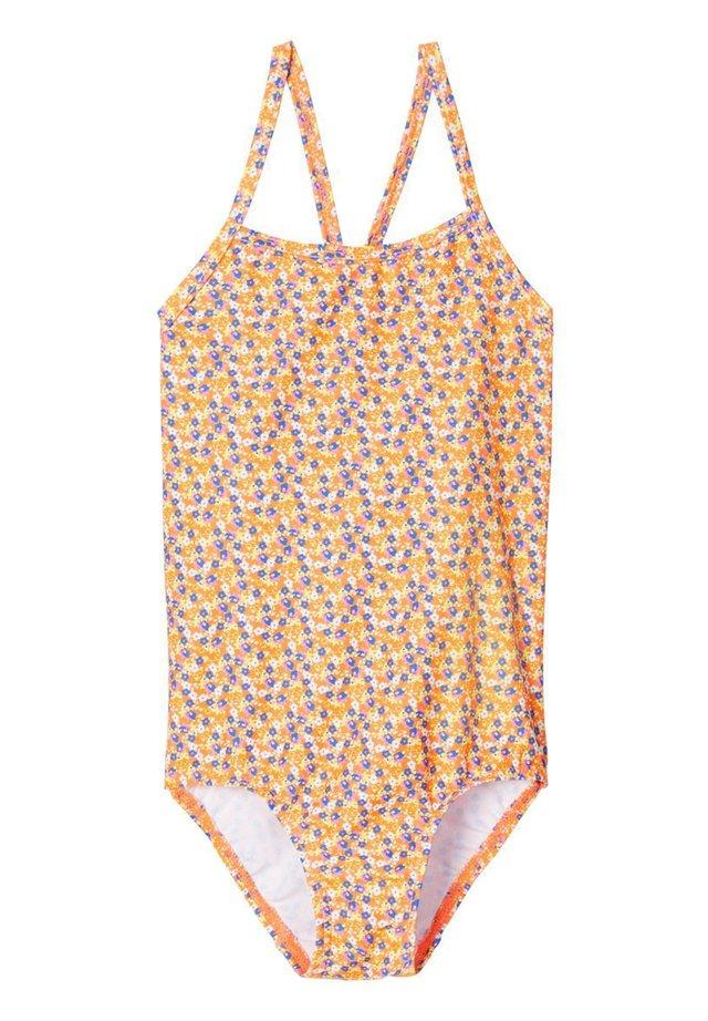 BADEANZUG GEMUSTERTER - Swimsuit - shocking orange