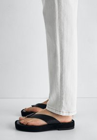 Massimo Dutti - T-bar sandals - black - 1