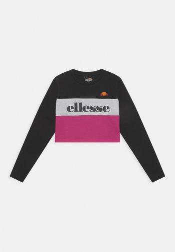 ARELLIA CROP - Maglietta a manica lunga - black/pink