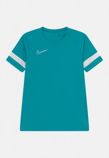 ACADEMY - Print T-shirt - aquamarine/white