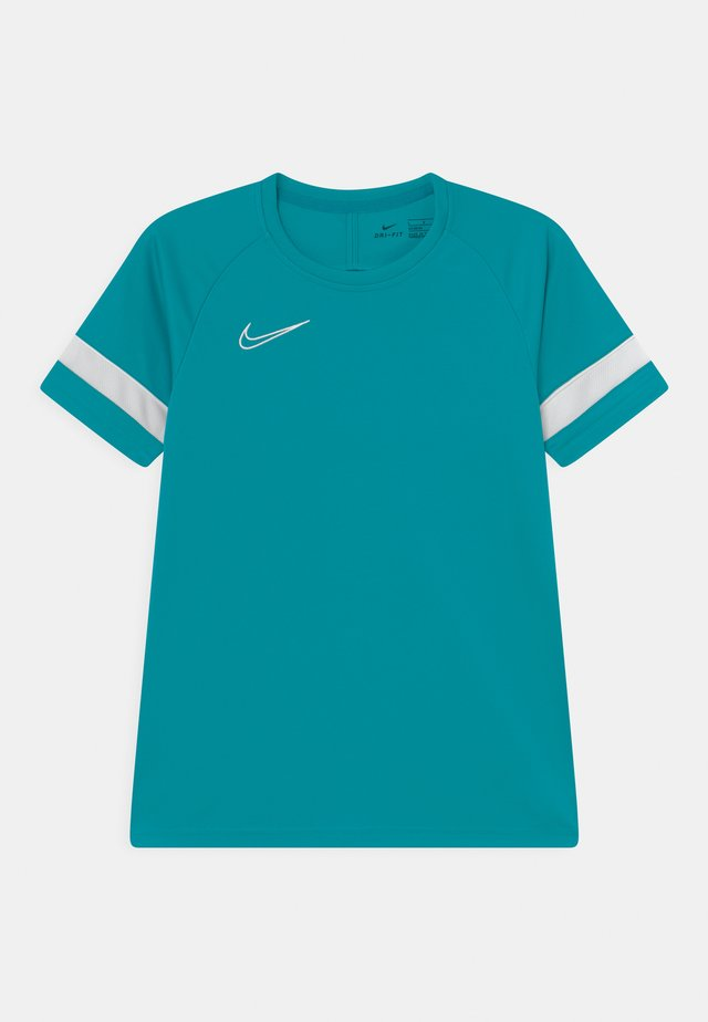 ACADEMY UNISEX - T-shirt con stampa - aquamarine/white