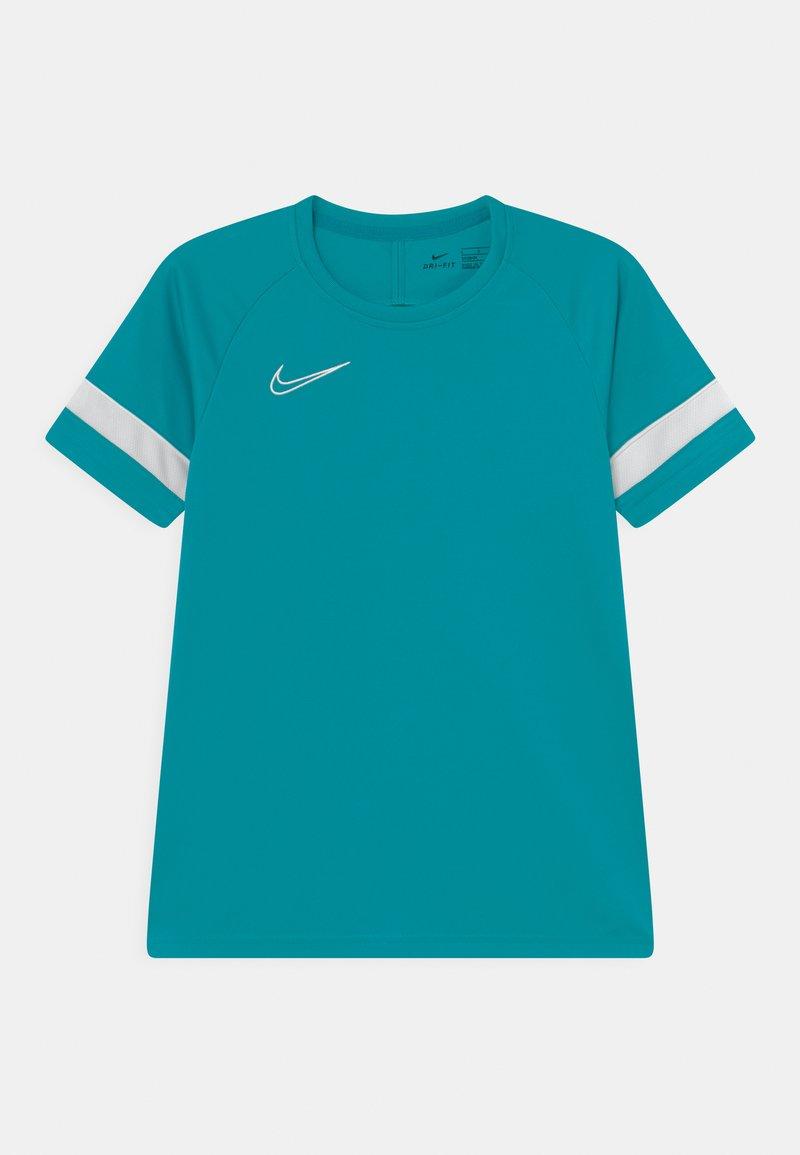 Nike Performance - ACADEMY UNISEX - Camiseta estampada - aquamarine/white