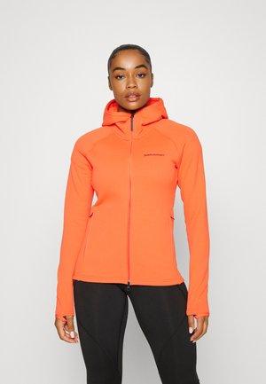 CHILL ZIP HOOD - Fleece jacket - zeal orange
