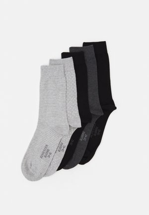 STAY FRESH 5 PACK - Ponožky - grey melange