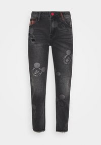 Desigual - MERY MICKEY - Jean boyfriend - denim black - 3