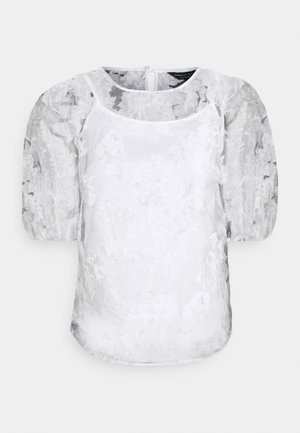 FLORAL TEE 2-IN-1 - Blouse - ivory