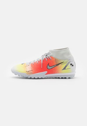 MERCURIAL 8 ACADEMY MDS TF - Astro turf trainers - white/bright mango