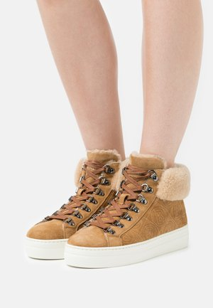 BARCELONA  - Lace-up ankle boots - cognac