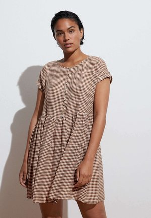 GINGHAM  - Day dress - brown